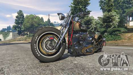 GTA 5 Harley-Davidson Knucklehead Bobber droite vue latérale