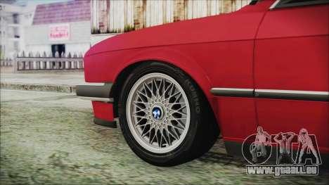 BMW 320i E21 1985 SA Plate pour GTA San Andreas sur la vue arrière gauche