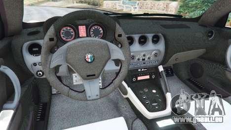 GTA 5 Alfa Romeo 8C Spider 2012 arrière droit vue de côté