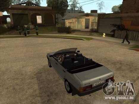 VAZ 21099 Convertible pour GTA San Andreas sur la vue arrière gauche