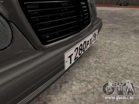 Mercedes-Benz E420 für GTA San Andreas Unteransicht