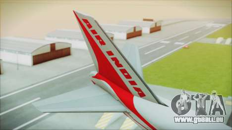 Boeing 747-237Bs Air India Kanishka für GTA San Andreas zurück linke Ansicht