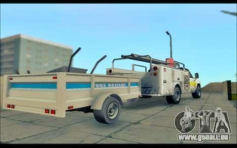 GTA V Remorque Utilitaire pour GTA San Andreas sur la vue arrière gauche