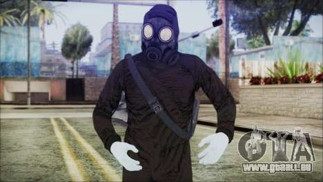GTA 5 Online The Heist Gasmask White pour GTA San Andreas