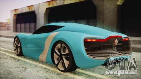 Renault Dezir Concept 2010 v1.0 pour GTA San Andreas laissé vue