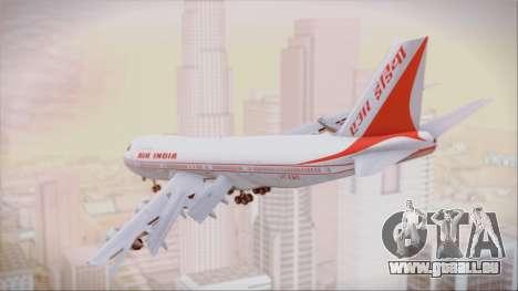 Boeing 747-237Bs Air India Vikramaditya pour GTA San Andreas laissé vue