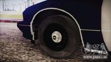 Chevrolet Caprice Station Wagon 1993-1996 LSPD pour GTA San Andreas sur la vue arrière gauche