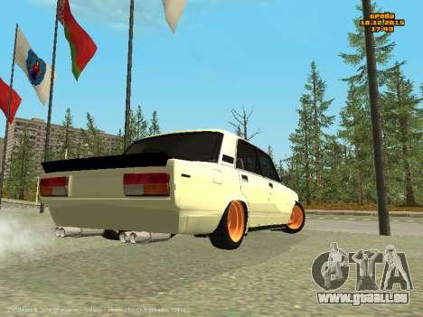 VAZ 2107 Voiture pour GTA San Andreas sur la vue arrière gauche