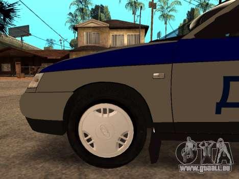 VAZ 2110 DPS für GTA San Andreas obere Ansicht
