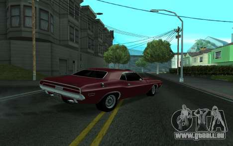 Dodge Challenger Tunable pour GTA San Andreas laissé vue