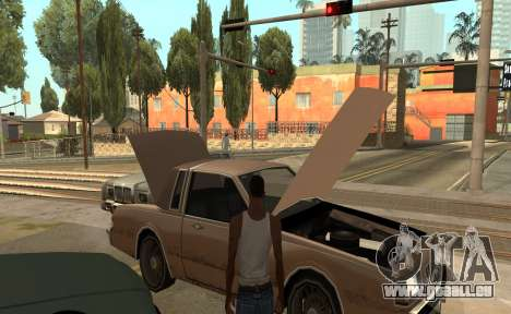 Ouvrir le capot ou du coffre mains pour GTA San Andreas troisième écran