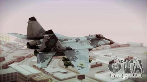 MIG-29 Fulcrum Ukrainian Falcons pour GTA San Andreas laissé vue