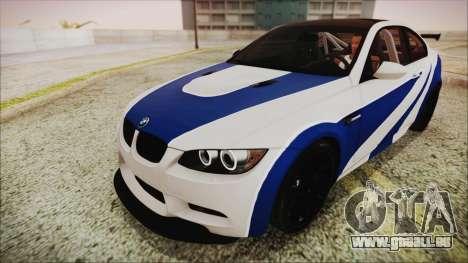 BMW M3 GTS 2011 HQLM für GTA San Andreas Rückansicht