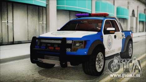 Ford F-150 SVT Raptor 2012 Police Version pour GTA San Andreas