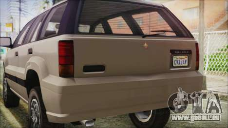 GTA 5 Canis Seminole IVF für GTA San Andreas Innenansicht