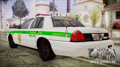Ford Crown Victoria Miami Dade pour GTA San Andreas laissé vue