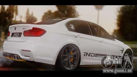 BMW M3 F30 IND EDITION pour GTA San Andreas laissé vue