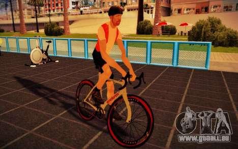 GTA V Endurex Race Bike für GTA San Andreas zurück linke Ansicht