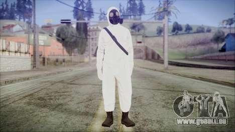 GTA 5 Online The Heist Gasmask Yellow pour GTA San Andreas deuxième écran