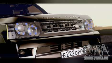 Range Rover Sport 2012 pour GTA San Andreas sur la vue arrière gauche