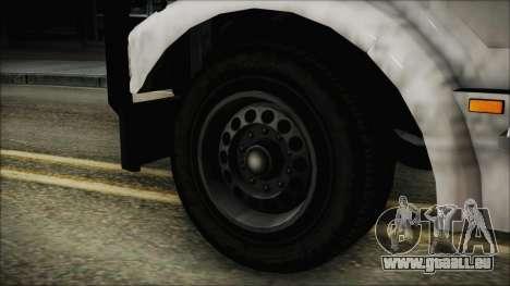Indonesian Benson Truck In Real Life Version pour GTA San Andreas sur la vue arrière gauche