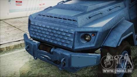 GTA 5 HVY Insurgent Van IVF für GTA San Andreas Rückansicht