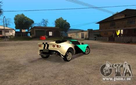 Lotus Elise 111s Tunable für GTA San Andreas rechten Ansicht
