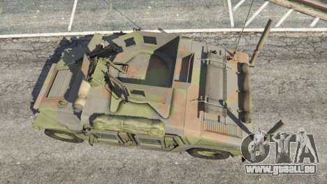 GTA 5 HMMWV M-1116 [woodland] vue arrière