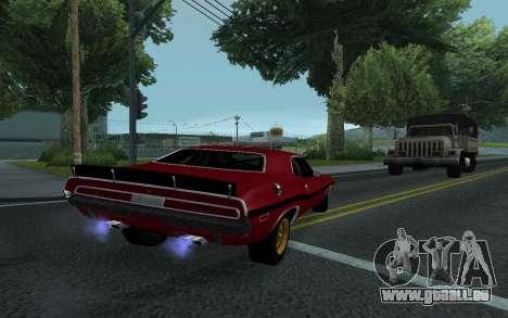 Dodge Challenger Tunable pour GTA San Andreas vue intérieure