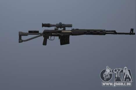 Fusil Sniper Dragunov pour GTA San Andreas troisième écran