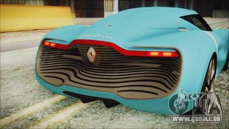 Renault Dezir Concept 2010 v1.0 für GTA San Andreas Rückansicht