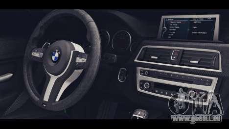 BMW M3 F30 IND EDITION pour GTA San Andreas vue de droite