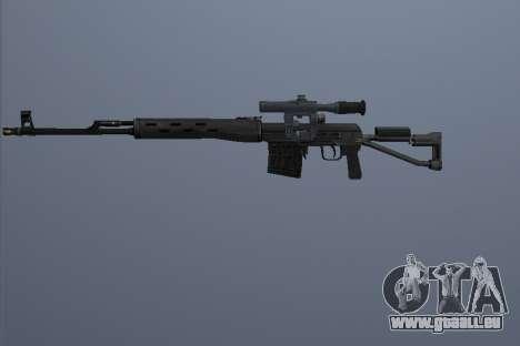 Fusil Sniper Dragunov pour GTA San Andreas