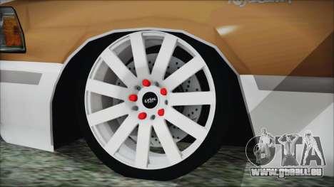 Toyota Crown VIP pour GTA San Andreas sur la vue arrière gauche