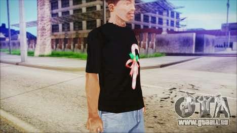 T-Shirt Cane Christmas für GTA San Andreas zweiten Screenshot