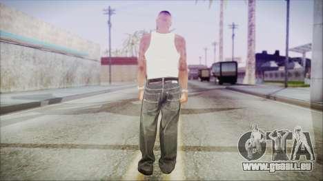 GTA 5 Grove Gang Member 3 pour GTA San Andreas troisième écran