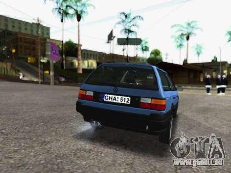 Volkswagen Passat B3 Variant für GTA San Andreas zurück linke Ansicht