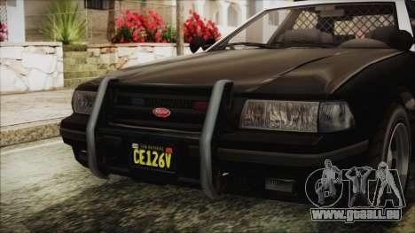 GTA 5 Vapid Stranier II Police Cruiser IVF für GTA San Andreas Rückansicht