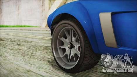 GTA 5 Declasse Mamba für GTA San Andreas zurück linke Ansicht