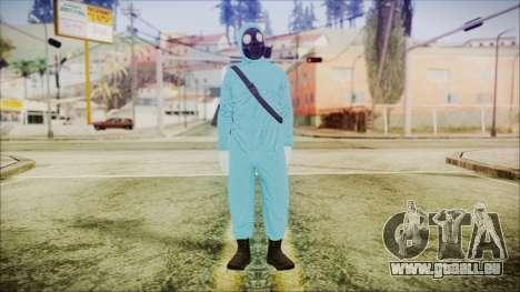 GTA 5 Online The Heist Gasmask Dark pour GTA San Andreas deuxième écran