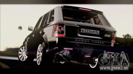 Range Rover Sport 2012 für GTA San Andreas rechten Ansicht