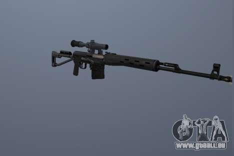Fusil Sniper Dragunov pour GTA San Andreas deuxième écran