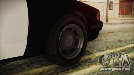 GTA 5 Vapid Stranier II Police Cruiser pour GTA San Andreas sur la vue arrière gauche