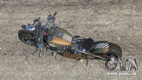 GTA 5 Harley-Davidson Knucklehead Bobber vue arrière
