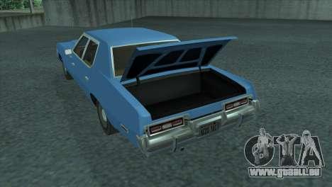 Dodge Monaco V8 7.2L 1974 pour GTA San Andreas vue arrière