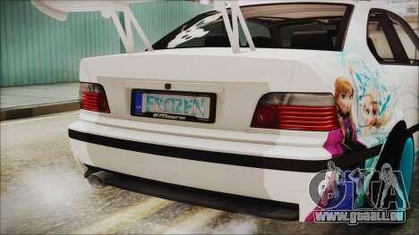 BMW M3 E36 Frozen für GTA San Andreas Innenansicht