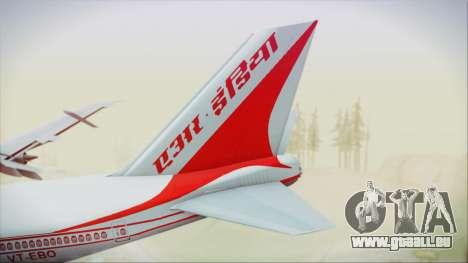 Boeing 747-237Bs Air India Vikramaditya für GTA San Andreas zurück linke Ansicht