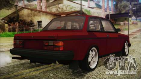Volvo Turbo 242 Evolution Turbo 1983 für GTA San Andreas linke Ansicht