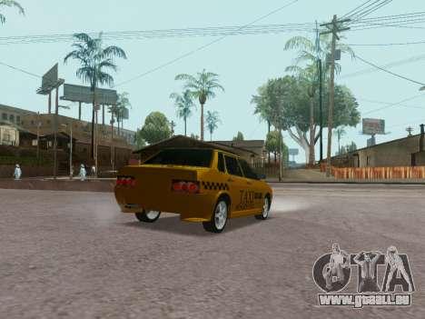 VAZ 21099 Tuning Russian Taxi pour GTA San Andreas sur la vue arrière gauche