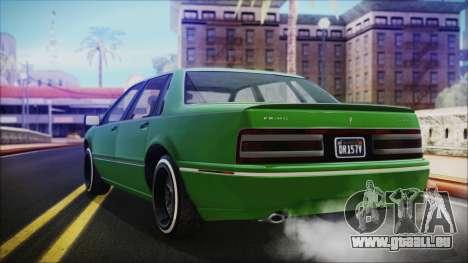 GTA 5 Albany Primo Custom No Interior IVF pour GTA San Andreas laissé vue